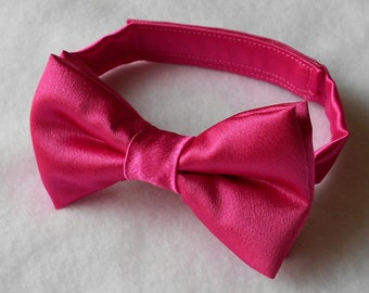 Pink Satin Bowtie- Infant, Toddler, Boy                                  2 weeks before shipping