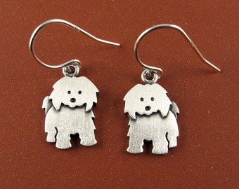 Tiny Coton de Tulear earrings