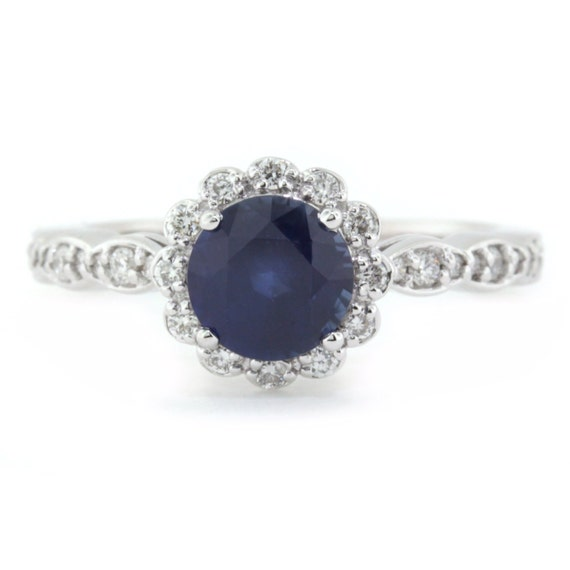 Are Wedding Rings Worn On The Right Hand: Items Similar To Blue Sapphire Engagement Ring , Right