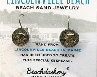 Sand Jewelry - Lincolnville Beach Maine - Beach Sand Jewelry -  Maine Jewelry - Beach Jewelry - Lincolnville Beach - Lincolnville