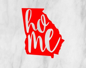 Home State Decal / Monogram sticker / yet cooler monogram decal / laptop decal / car decal