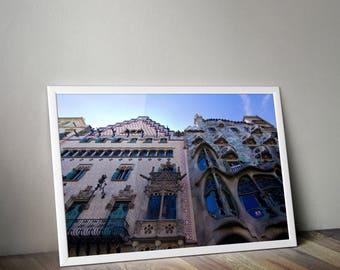 Casa Batllo, Barcelona, Spain, Barcelona Spain, Bacelona Print, Architecture, Spain Photography, Travel Photography, Design, Gaudi, House