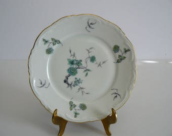 Green Ming Mitterteich Bread and Butter Plate Bavaria, Germany, Wedding 12 in stock