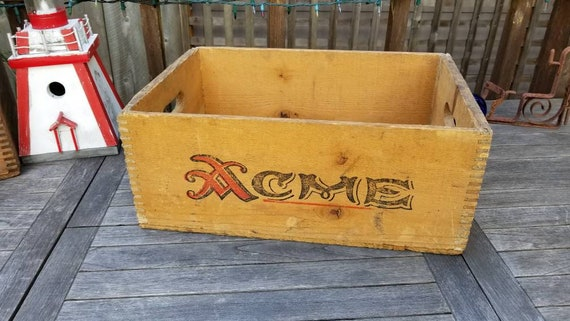 ACME Brewery Vintage Wooden Crate San Francisco Rustic Home