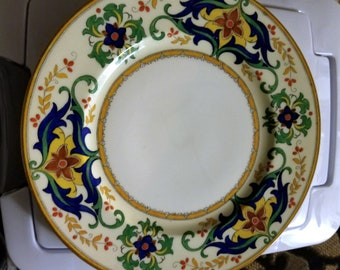 Rare, antique, vintage England Crescent George Jones and Sons plate, pattern 28309, 1891 - 1920, dish, collectible, shabby chic, dinnerware