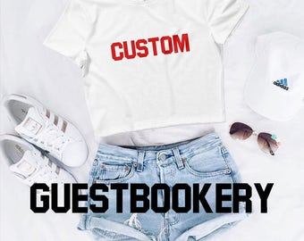 Custom Crop Top - Personalized - Gift - Tumblr Top - Cute - Crop Top - Graphic Crop Top - Graphic Tees - Street Style - Tumblr - Customized