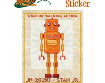 Robot Stan Jr Wind Up Toy Lunastrella Vinyl Sticker - #64412
