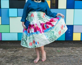 "NEW! 31"" long Designer Inspired Child's Drawing Skirt PLUS SIZE 18 20 22 24 26 28 30"