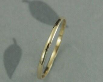 Thin Gold Wedding Band~10K Gold Ring~1.5mm Wedding Ring~Skinny Minnie~Half Round Band~Thin Ring~Spacer Ring~Stacking Ring~Thin Gold Ring