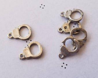 Antiqued silver cuff link (6)