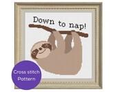 Nap Cross Stitch Pattern...