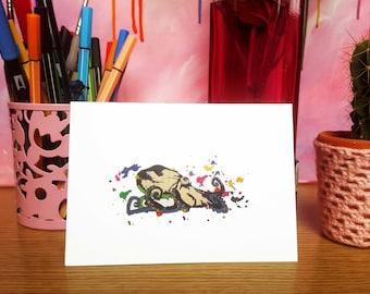 Octopus greetings card