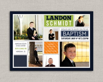 LDS Baptism Invitation - Landon