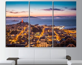 San Francisco Wall Art San Francisco Wall Decor San Francisco City San  Francisco Canvas San Francisco