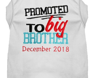 Dog Pregnancy Announcement - Promoted to Big Brother Dog Shirt - Baby Announcement Brother Pet Shirt - Baby Announcement Dog Tee - Reveal