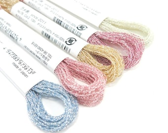 COSMO Sparkle Embroidery Thread Floss Set of 5 Colors | Metallic Embroidery Floss, Metallic Thread