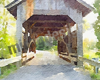 Covered Bridge in Charlotte, VT Note Card