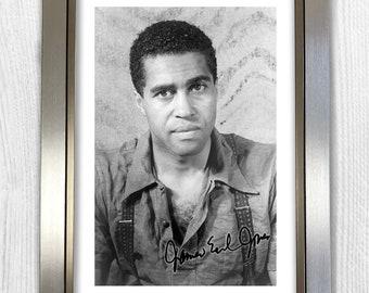 James Earl Jones Signed Autograph Reproduction Photo A4 Print Framed