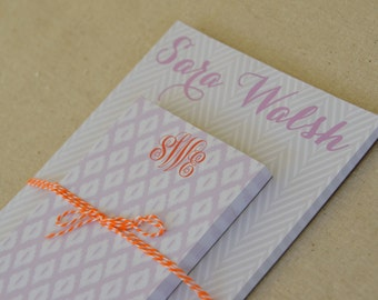 Personalized Notepad Set, (Small + Medium)