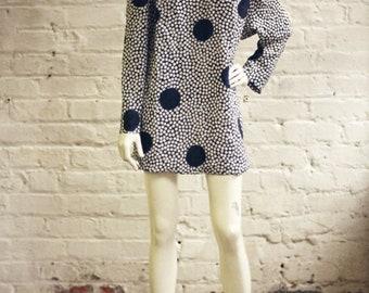 ON SALE Vintage Polka Dot Dress // Size 10