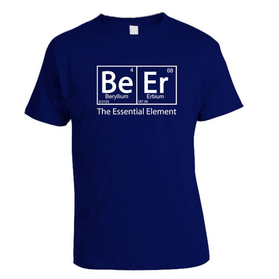 Custom Home Brew Shirts - Get dressed for brew day and show your beer pride - BEER the essential element