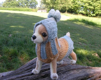 Small dog's coats with hats. Size XS