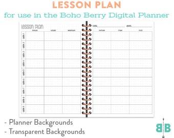 DIGITAL Lesson Planner for the Boho Berry Digital Planner