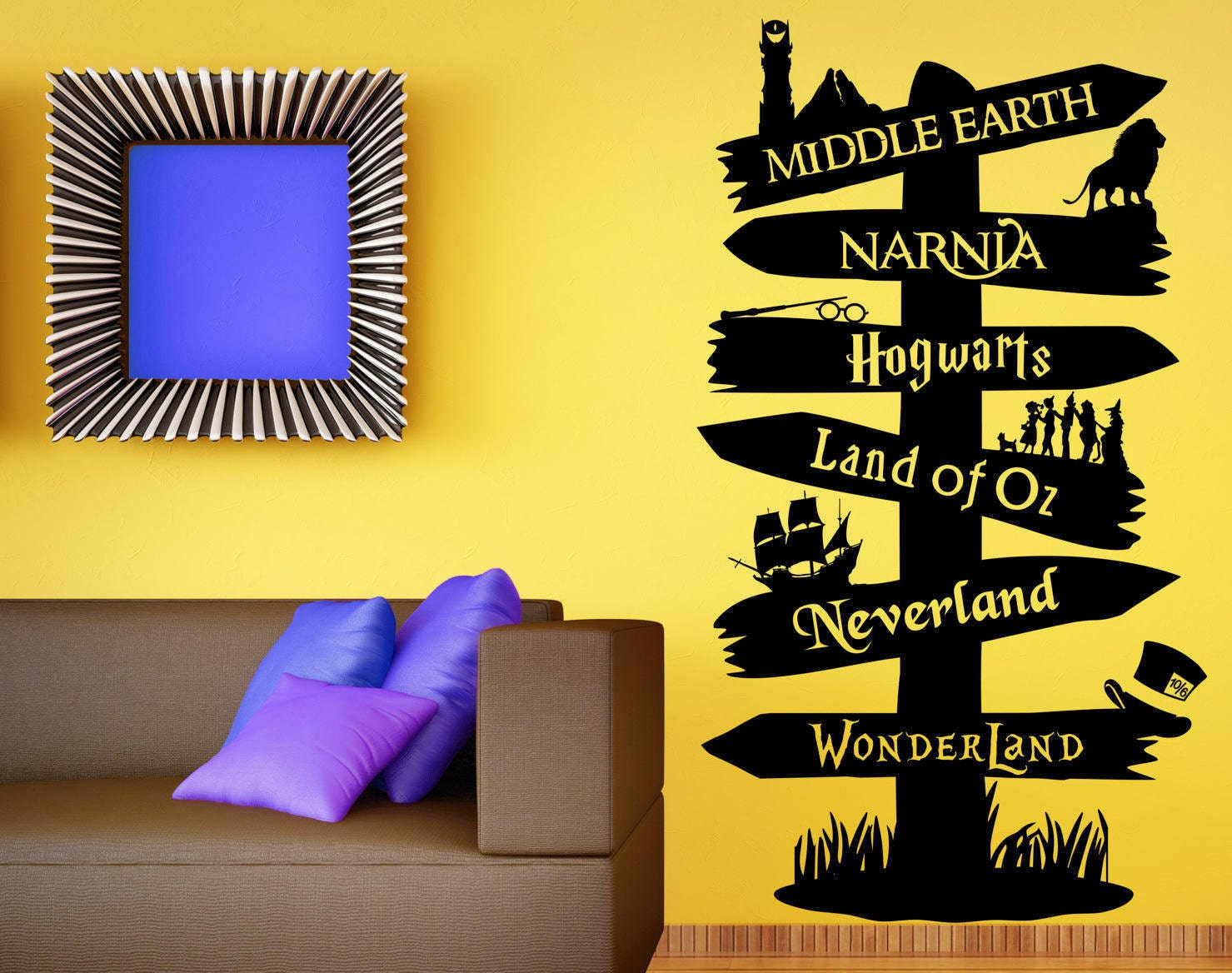 Storybook Signpost Wall Decal Custom Wall Decal Fandom Wall