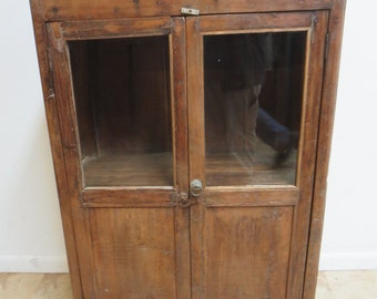 Antique Primitive architectural salvage Hutch China Cabinet Cupboard m H