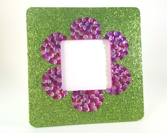 Glitter Picture Frame - Sparkly Picture Frame - Square Picture Frame - For Girls - Photo Frame