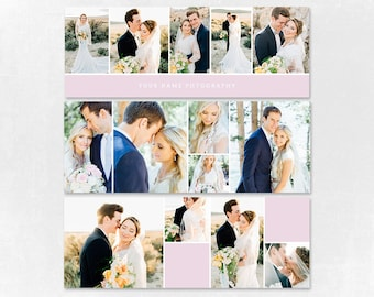 Wedding Facebook Timeline Cover Photoshop Template - 4 Photography Template  - Facebook cover Combo002
