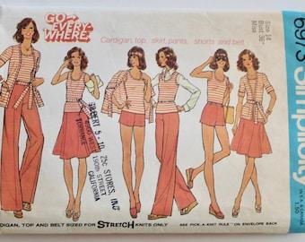 Vintage 1970s Women's Career Separates: Vest, Skirt, Blazer Jacket and Trouser Pattern Size 14 Simplicity 6973