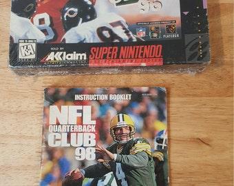 NFL Quarterback Club 96' Super Nintendo! SNES Complete in Original Box! Sealed Nintendo Video Game!