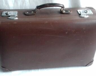 Brown Vintage Globetrotter Suitcase