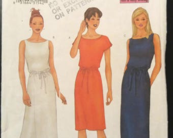 Butterick 6587 Misses'/Misses' Petite Dress Size 12 14 16 Uncut (2001)