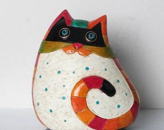 Handmade, Cats, Cat Art, Ceramic Cat Decor, Ceramic Cats, Cat Sculptures, Animal Figurines, Pottery Cats, Clay Cats, Animals