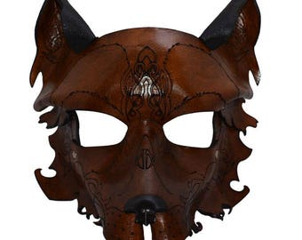 Dire Wolf Leather Mask