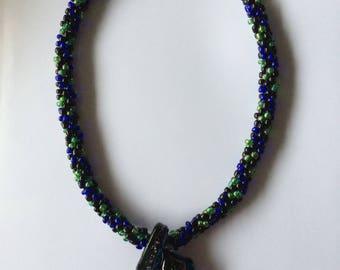 Kumihimo braided necklace