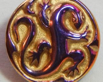Electric Lizard Czech Glass Button