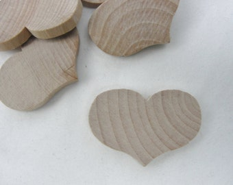 "12 country wooden hearts 2 1/4"" wide 1 11/16"" tall 1/4"" thick unfinished"