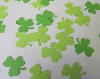 Green Shamrock Confetti - 3 Leaf Clover Confetti - St. Patrick's Day Decorations - Three Leaf Clover Decorations - Irish Wedding Decorations