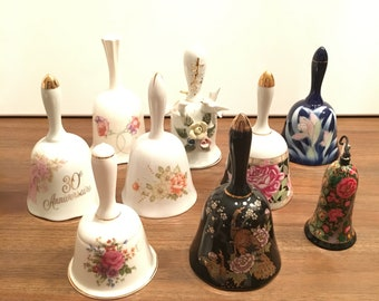 Collectible Floral Bells