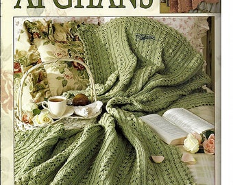 Rose Cottage Afghans Crochet Pattern Book Leisure Arts 3249