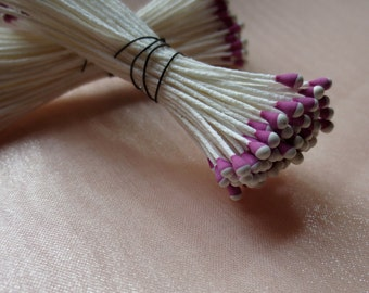 Stamens in Fuchsia & Cream made in Germany  for Bridal Headpieces, Boutonnieres,  Bouquets, Corsages