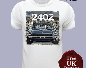 Nissan 240Z T Shirt, Nissan 240Z, T Shirt, Designed & Printed By Us,