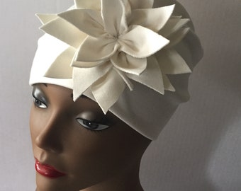 Womens White Flower Hat Summer Special Occasion Good Hair Day