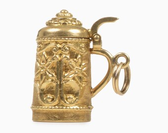 18 Kt.Yellow Gold Beer Stein
