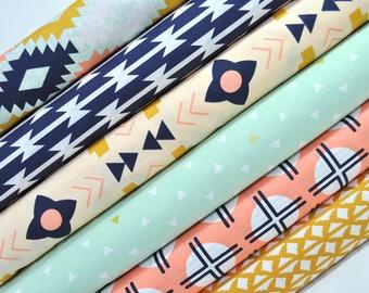 Arizona Fabric Bundle - Art Gallery by April Rhodes. Southwestern Geometric - 100% premium cotton. 6 Prints - Select Your Length