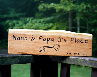 XL Custom Rustic Wood Sign - Extra-Long - Personalized Gift - Hand Engraved - Unique wedding gift- Family Established Wood Sign