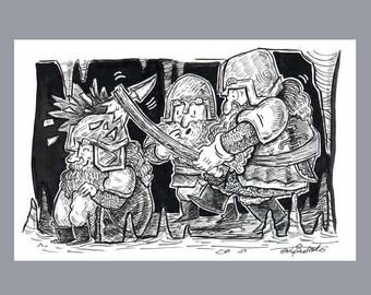 Dwarfs at work - Original Art